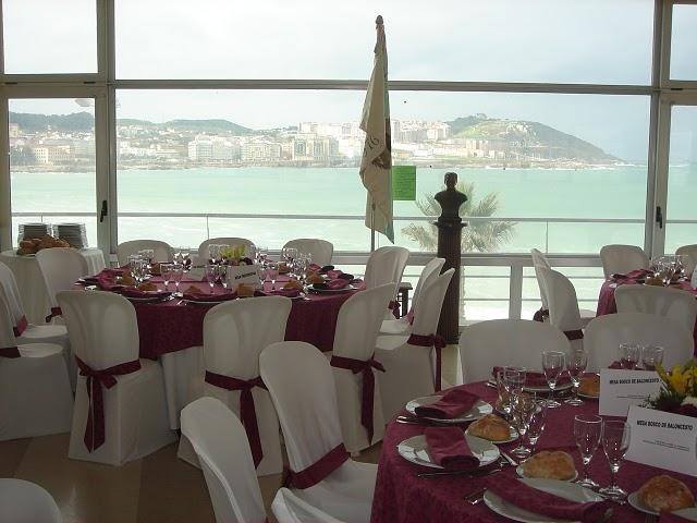 Vista de la bahía desde el lugar de celebración de la comida